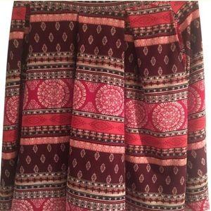 LuLaRoe Madison XL Pink and purple Aztec print